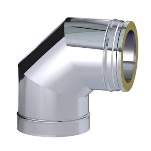 Dinak DW TWin Wall Stainless Steel 90 Degree Elbow