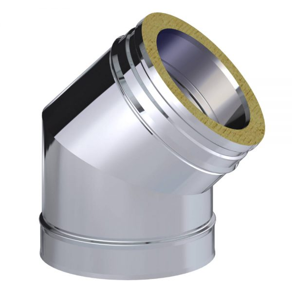 Dinak DW Twin Wall Stainless Steel 45 Degree Elbow
