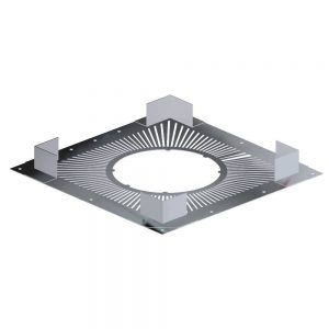 Dinak DW Twin Wall Stainless Steel Ventilated Firestop Plate