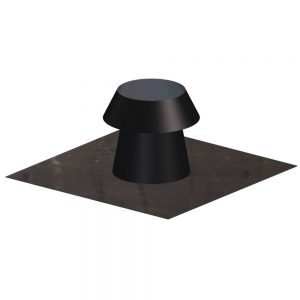 Dinak DWN Twin Wall Stainless Steel Black Flat Roof Flashing