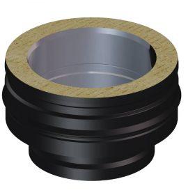 Dinak DWN Twin Wall Stainless Steel Black Vitreous Enamel or Single Wall to DW Twin Wall Adaptor A16